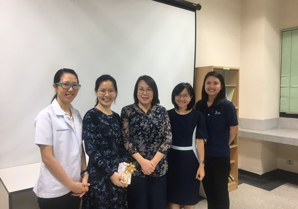 Professor Zhihong Hiang from the University of Dundee, United Kingdom visited the Department of Physical Therapy Faculty of Allied Health Sciences,