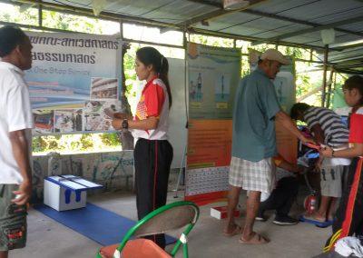 ตรวจสุขภาพ แก่ประชาชนทั่วไป  ในโครงการตรวจสุขภาพคนไร้บ้าน ประจำปี 2560
