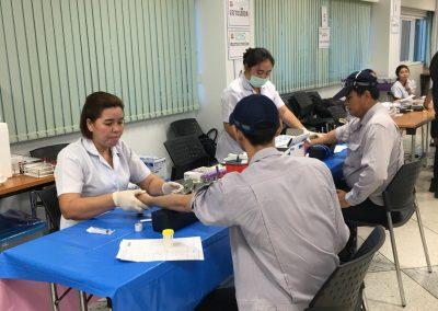 บริการตรวจสุขภาพประจำปีแก่  พนักงานบริษัท โตชิบา จ. ปทุมธานี วันที่ 9 ตุลาคม 2560